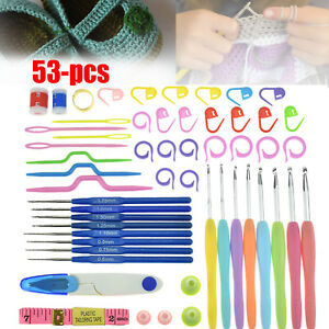 53pcs-Crochet-Hooks-Set-Knitting-Needle-Organiser-Case-Kit-Weave-Yarn-Craft-Tool