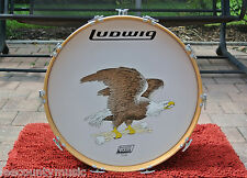 """COLLECTORS 1970's LUDWIG Dealer Display 22"""" THERMO GLOSS BASS DRUM + EAGLE #H27"""