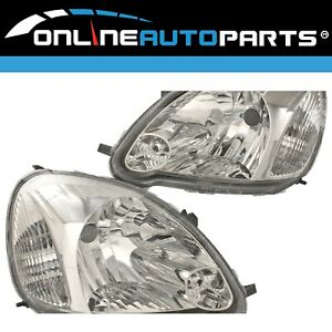 Headlights Left+Right for Toyota Echo NCP10 NCP13 2003~05 3Dr 5Dr Hatch LHS+RHS