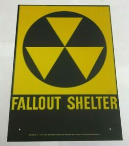 $24 Fallout shelter sign original not a reproduction   FREE SHIPPING !