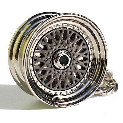 Motiviert Felge Schlüsselanhänger Bbs Style Schwarz Chrom Metall Sehr Edel Und Hochwertig Schlüsselanhänger