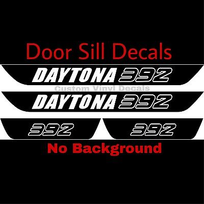 Dodge Charger DAYTONA 392 Vinyl Door Sill Decals Mopar 4pcs SRT8