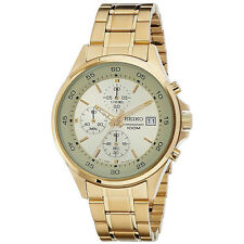 Seiko SKS482 Gold Stainless Steel Chronograph Date 100m Men's Watch SKS482P1