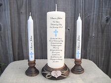 Personalised Christening Baptism Unity Candle Gift Keepsake Godparents Boy Girl