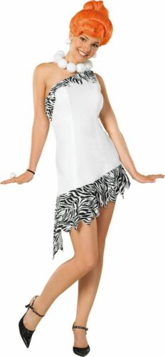 Ladies Deluxe Wilma Flintstone Womens Cartoon Fancy Dress Costume