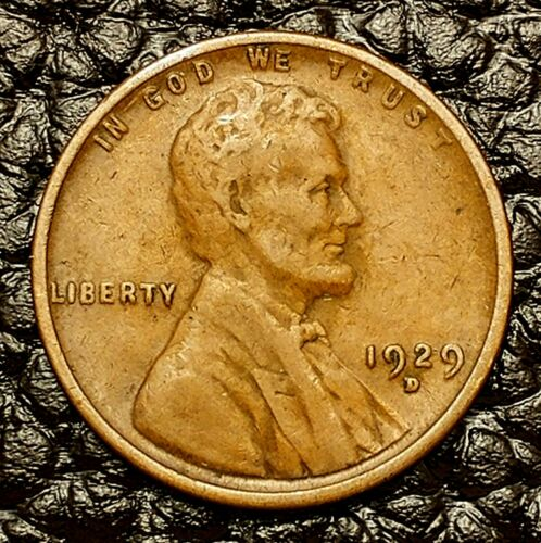 Condition ~ $20 ORDERS SHIP FREE! VG 1929-D Lincoln Wheat Cent in Very Good