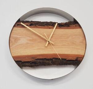 Wanduhr-aus-Holz-Handgefertigt-Durchmesser-30-cm