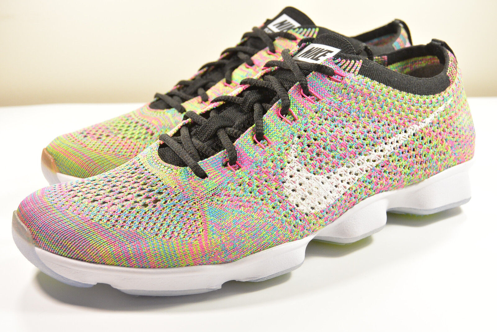 DS NIKE 2014 FLYKNIT ZOOM AGILITY MULTI COLOR M 8.5   WMN 10 AIR FORCE OLYMPIC