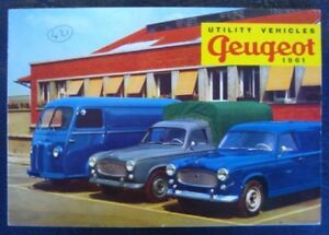 PEUGEOT COMMERCIAL VEHICLES RANGE BROCHURE 1961.