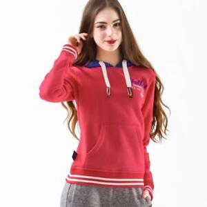 ed6dc31de3fb53 Image is loading Womens-Knit-Hoodie-Sweatshirt-Ladies-Hooded-Top-Jacket-