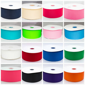 Solid-Grosgrain-Ribbon-9mm-25mm-38mm-50mm-75mm-1-3-5-Metre-Lengths