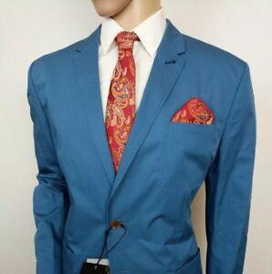 d22acd1d1a38f Ted Baker London Mens Suit Jacket Blue Unstructured Sz 7 44R IT 54R ...
