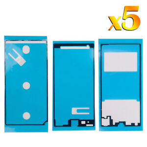5 x For Sony Xperia Z1 C6903 LCD Bonding Battery Cover Middle Frame Adhesive Set