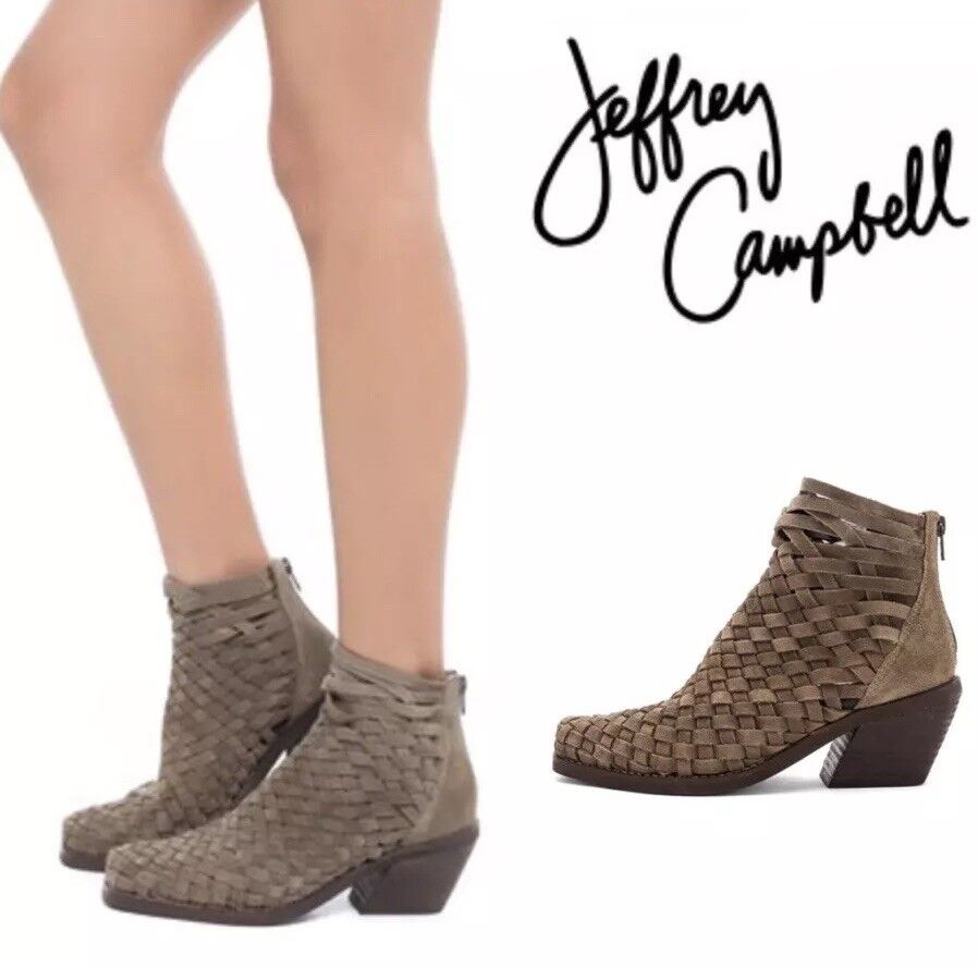 Jeffrey Campbell Surat Booties Taupe Size 10