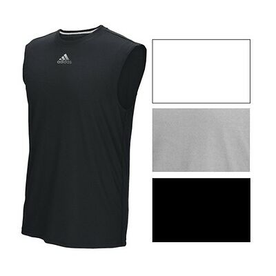 adidas Men's Climalite Sleeveless Ultimate Tee Athletic Fit Polyester Tank S-3X
