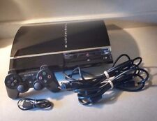 Sony PlayStation 3 FAT 80GB Piano Black Console (CECH-E01) + DOWNLOADED GAMES