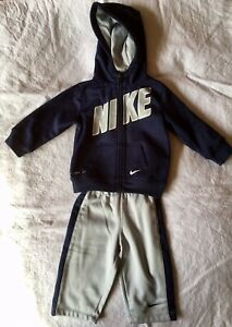 0bf7cbfd Details about Baby Boy Nike 2-Piece Therma Zip Logo Hoodie & Pants Set 12m