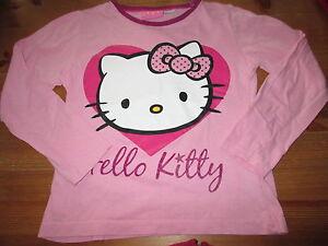 Tee-shirt-Rose-034-Hello-Kitty-034-ML-Taille-7-8ans-marque-Sanrio-TBE