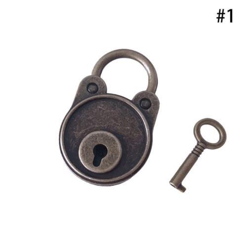 1 satz Legierung Vintage Antiken Stil Mini-Vorhängeschlösser-Alten~Schlüsse Z7Y5