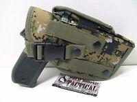 Molle Ambidextrous Pistol Holster Tactical Molle Vest Chest Holster Wood Digi