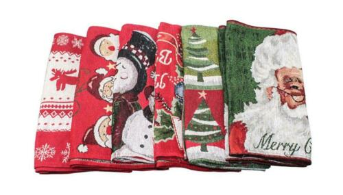 Christmas Table Runner Tablecloth Cover Home Xmas Party Table Decor US