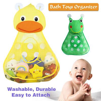 1x Lovely Duck Baby Bath Tub Toy Mesh Net Storage Bag Bathroom Organizer Holder