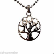 Tree of Life Clover Shape Cremation for Ashe Urn Necklace Stainless Keepsake