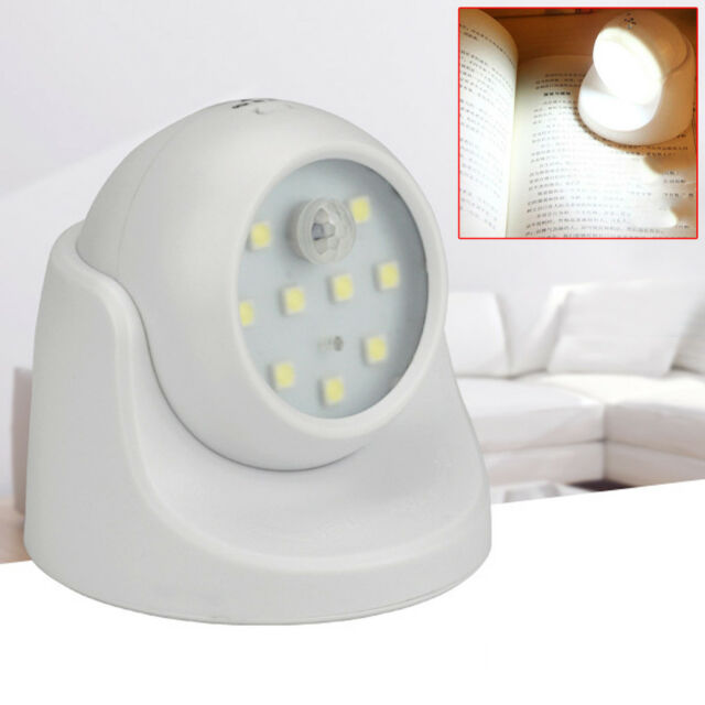 6 LED PIR Motion Activated Night Light Sensor Rechargeable Outdoor Wall Lamp USB
