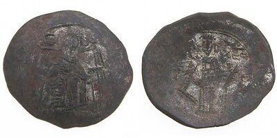 Münzen Münzen Mittelalter 1185-1195 Byzantinisch Billon Aspron Trachy Isaac Ii Angelos Jungfrau Maria SchnäPpchenverkauf Zum Jahresende