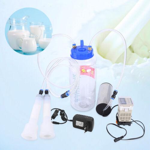 Mini 2L Elektrisch Melkmaschine Milker Melkeimer Vakuumpumpe Melken Satz DM 01