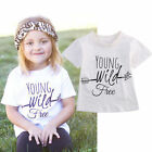 1-6Y Toddler Kids Baby Girl Boy Summer Clothes Short Sleeve Tops T-Shirts Blouse