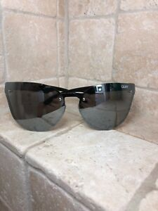 18db196ede8 Quay Australia Sunglasses HIGHER LOVE Women s BLACK SILVER Mirror ...