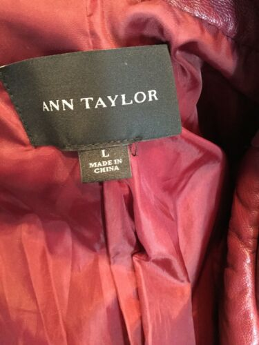 Moto Ann W Faux Størrelse Taylor lynlåse Jacket Large Læder Vin wTqftxrPT