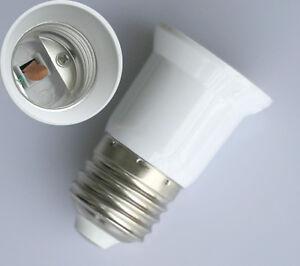 2x e27 auf e27 led leuchtmittel verl ngerung adapter lampe sockel fassung ebay. Black Bedroom Furniture Sets. Home Design Ideas