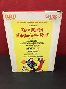 Fiddler On The Roof The Original Broadway Cast Recording 8 Track Tape Carriage