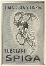 Z2390 Tubolari SPIGA - L'ala della Vittoria - Pubblicità 1929 - Vintage advert