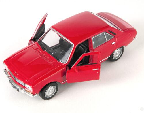 red Welly Modell Auto 1:34 NEU /& OVP BLITZ VERSAND Peugeot 504 1975 rot