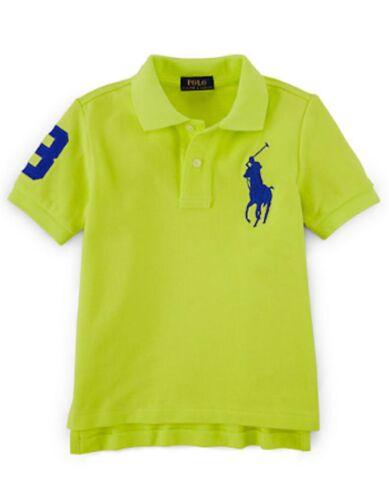 $39.50 Ralph Lauren Neon Yellow Green Short Sleeves Boy/'s T-Shirt Sz 2//2T 3//3T 4