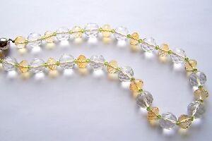 Kette-Kristall-Citrin-Peridot-Silber-49-5-cm-gelb-weiss-gruen-facettiert