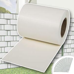 rouleau 70m x 19cm pvc brise vue pare vent pour cl ture terrasse jardin blanc ebay. Black Bedroom Furniture Sets. Home Design Ideas