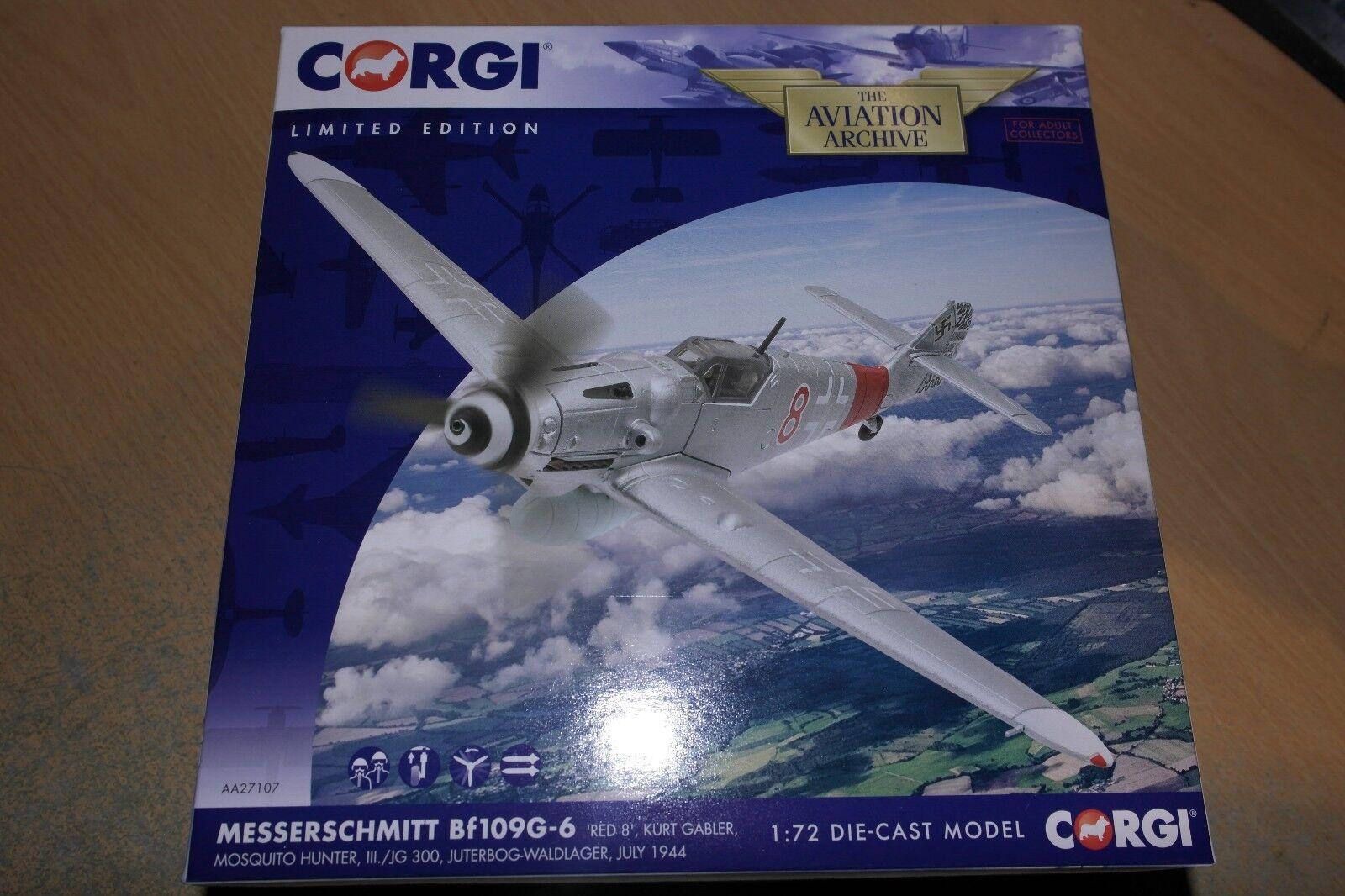 CORGI AVIATION 1 72 MESSERSCHMITT BF109G-6  rot 8  MOSQUITO HUNTER III JG 300