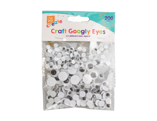 200 Googly Eyes | Stick On Eyes Arts Craft Mixed Sizes