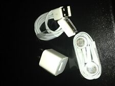 Authentic Apple Charger A1265, cable and head phones for Iphone 4S/4g/3g