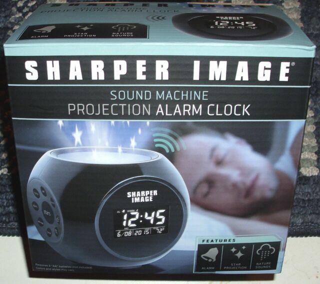 Sharper Image Sound Machine Star Projection Alarm Clock Ebay