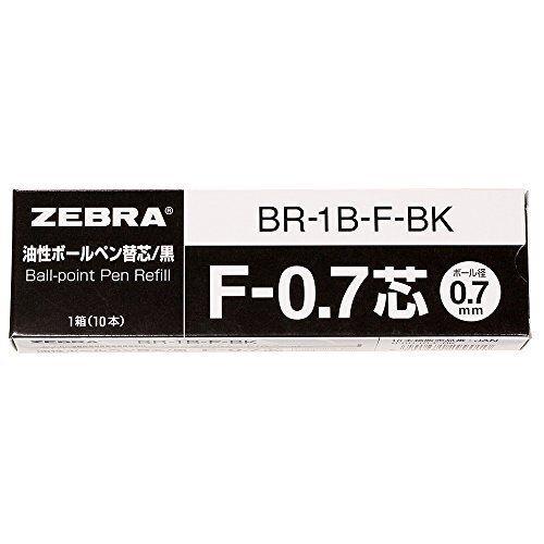 Zebra oily ballpoint pen core replacement B-BR-1B-F-BK Import Japan