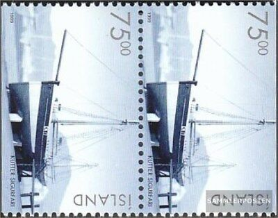 Other European Stamps Genteel Islande 911do/tu Vertical Couple Neuf Avec Gomme Originale 1999 Historique Véhic Evident Effect