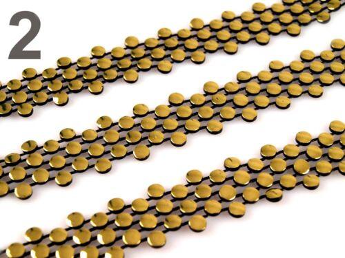 GALON avec pierres strass galon or argent noir décorer aufnähen strass