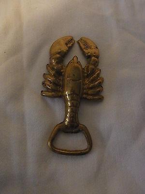 Vintage German Brass Botle Opener Lobster #BI