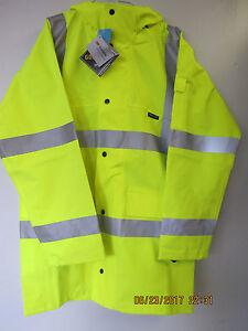 NIELSEN-CLOTHING-HI-VISABILITY-YELLOW-RAIN-COAT-GORE-TEX-3M-SCOTCHLITE-XLARGE