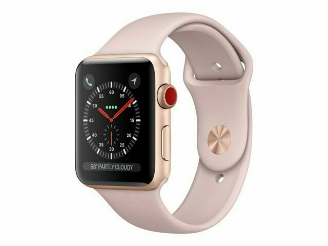 Apple Watch Series 3 42mm Gold Aluminium Case With Pink Sand Sport Band Gps Cellular Mqk32ll A For Sale Online Ebay